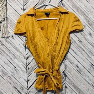 East 5th v-neck blouse in mustard